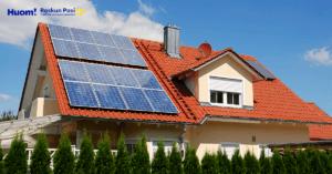 Aurinkoenergia omakotitalossa